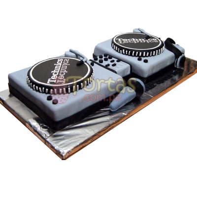 Torta DJ | Dj cake | Pastel de DJ | Tortas | Feliz cumpleaños - Cod:TRR06