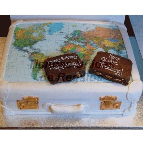 Torta Viajero Mundial | Travel Cake - Whatsapp: 980-660044