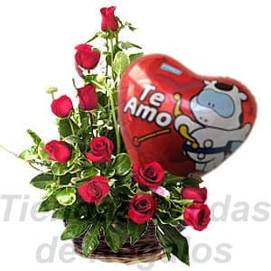 Arreglos de San Valentin con Globos - Cod:SBR08