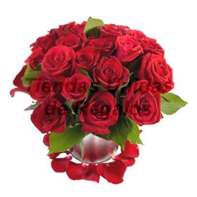 Florero de 20 Rosas | Arreglos florales lima - Whatsapp: 980-660044