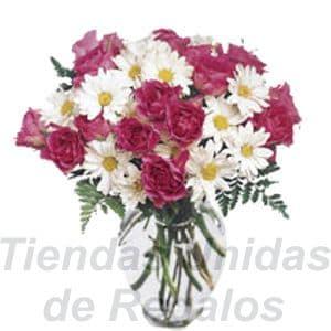 Florero 05 | Arreglos florales en Floreros de Vidrio | Floreros con Rosas - Cod:XFR05