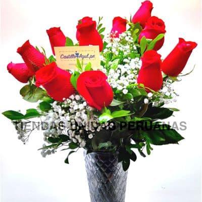 Florero 08 | Arreglos florales en Floreros de Vidrio | Floreros con Rosas - Cod:XFR08