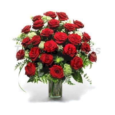 Florero 12 | Arreglos florales en Floreros de Vidrio | Floreros con Rosas - Cod:XFR12