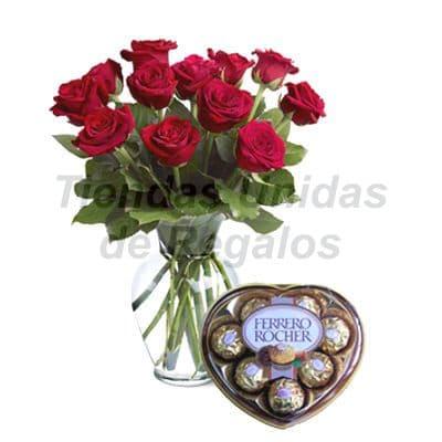 Florero 14 | Arreglos florales en Floreros de Vidrio | Floreros con Rosas - Cod:XFR14
