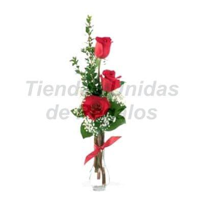 Florero 16 | Arreglos florales en Floreros de Vidrio | Floreros con Rosas - Cod:XFR16