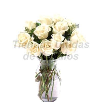 Florero 17 | Arreglos florales en Floreros de Vidrio | Floreros con Rosas - Cod:XFR17