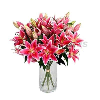 Florero 18 | Arreglos florales en Floreros de Vidrio | Floreros con Rosas - Cod:XFR18