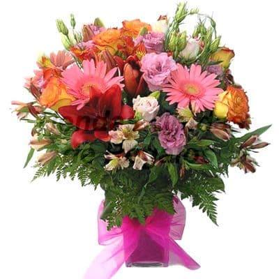 Florero 19 | Arreglos florales en Floreros de Vidrio | Floreros con Rosas - Cod:XFR19