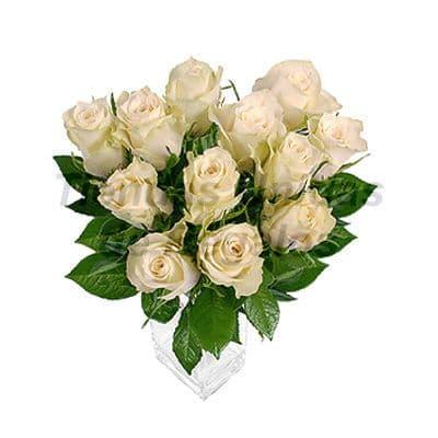 Florero 20 | Arreglos florales en Floreros de Vidrio | Floreros con Rosas - Cod:XFR20