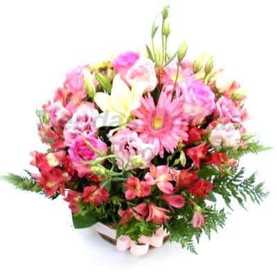 Flores 21 | Arreglos florales en Floreros de Vidrio | Floreros con Rosas - Cod:XFR21