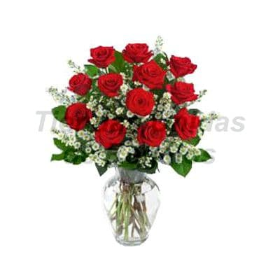 Florero 23 | Arreglos florales en Floreros de Vidrio | Floreros con Rosas - Cod:XFR23