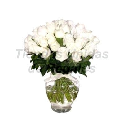 Florero 24 | Arreglos florales en Floreros de Vidrio | Floreros con Rosas - Cod:XFR24
