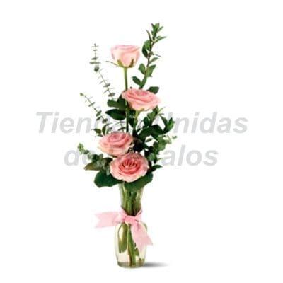 Florero 25 | Arreglos florales en Floreros de Vidrio | Floreros con Rosas - Cod:XFR25