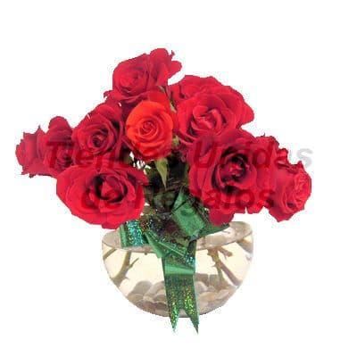 Florero 27 | Arreglos florales en Floreros de Vidrio | Floreros con Rosas - Cod:XFR27