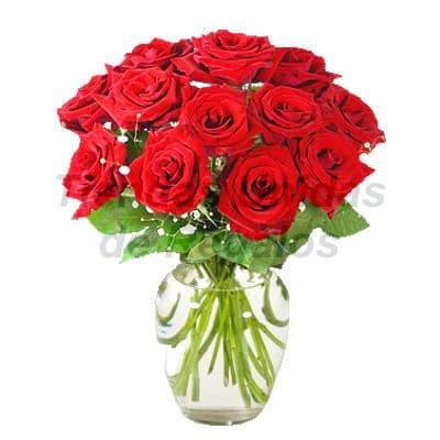 Florero 28 | Arreglos florales en Floreros de Vidrio | Floreros con Rosas - Cod:XFR28