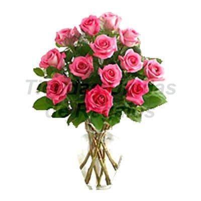 Florero 29 | Arreglos florales en Floreros de Vidrio | Floreros con Rosas - Cod:XFR29