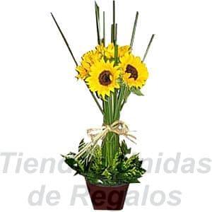 Arreglos de Girasoles | Arreglo con Girasoles | Arreglos florales con Girasoles - Cod:XGR03