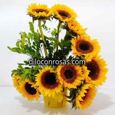 Arreglos Florales con Girasoles | Arreglos Florales de Girasoles - Cod:XGR04