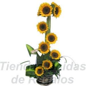 Arreglos Girasoles | Girasoles y Ferrero Rocher | Oferta con Girasoles - Cod:XGR05