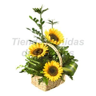 Arreglo con Girasoles | Arreglos florales Girasoles y Rosas - Cod:XGR09