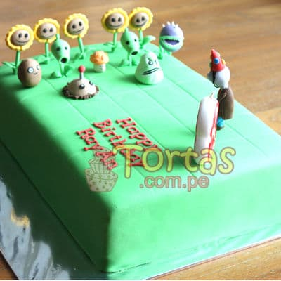 Torta de Zombies vs Plants - Whatsapp: 980-660044