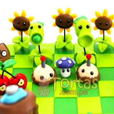 Torta del tema Zombies vs Plants | Plants vs Zombies cake | Tortas de Zombies | Tortas plantas - Whatsapp: 980-660044