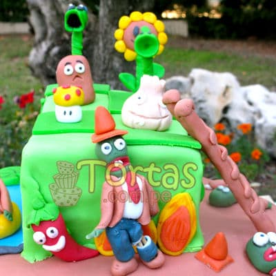 Torta Zombies vs Plants - Whatsapp: 980-660044