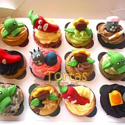 Cupcakes de Zombies vs Plants - Cod:ZVP08