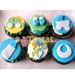 Cupcakes a Domicilio | Cupcakes Zapatitos de Bebe - Cod:BBC10