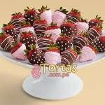 Regalos para Bebes | Regalo para recien Nacida | Fresas con Chocolate - Cod:BBE03