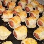 Enrrollado de Hot Dog | Bocaditos de Hot dog | Enrollado de Hot Dog Bocaditos - Cod:BDU12
