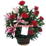 Arreglos de Rosas | Arreglo de Rosas y  Liliums | Arreglos a Domicilio - Cod:ARL05