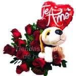 Rosas Importadas Peluche y Globo | Rosas Delivery | Rosas Arreglos |  - Cod:ARL45