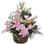 Rosas Rosadas y Liliums | Arreglos con Rosas | Arreglos a Domicilio - Cod:ARL48