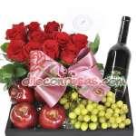 Florerias Delivery | Arreglo de Rosas | Arreglos de Frutas y Vino - Cod:ENL12