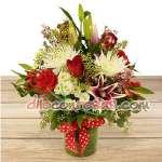 Envio de Flores Lima | Arreglos de Rosas | Arreglo con Flores y Liliums | rosas com - Cod:ENL13
