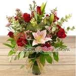 Arreglos de Rosas | Arreglo de Rosas y Liliums | Rosas Peru | Florerias Peru - Cod:ENL17