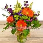 Arreglos con Rosas | Jarron con Rosas y Flores | Arreglos florales Delivery - Cod:ENL19