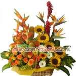 Arreglos con Rosas | Arreglo de Flores y Girasoles | Delivery de Flores en Peru - Cod:ENL20