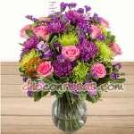 Arreglos con Rosas | Florero con Flores para Enamorada | Arreglos Florales en Lima - Cod:ENL22
