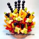 Delivery Fruta La Grande | Frutero con Chocolate y Frutas grande - Cod:FCF01