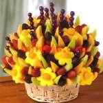 Arreglos Frutales Delivery | Frutero con Chocolate y Frutas Deluxe - Cod:FCF07