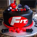 Torta deportes | torta gimnasio | torta hombre con pesas | Torta Pesas Gimnasio - Cod:GMS06