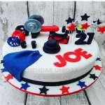 Birthday Cake For Men Gym | Torta Camilla Pesas - Cod:GMS07
