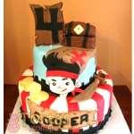 Torta de Jake y los Piratas del nunca Jamás | Fiesta de piratas | Torta tema Jake y piratas - Cod:JYP02