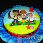 Torta tematica Jake y piratas | Torta de Jake y los Piratas del nunca Jamás  - Cod:JYP06