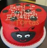 Torta con la tematica Mariquita | Miraculous ladybug cake | Torta de ladybug - Cod:LBB06