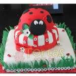 Pastel Mariquita | Miraculous ladybug cake | Torta de ladybug - Cod:LBB08