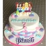 Torta Lego Friends | Imágenes de Torta LEGO | Pastel de lego - Cod:LGT03