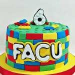 Torta Lego 02 | Imágenes de Torta LEGO | Pastel de lego - Cod:LGT04